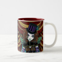 willow, circus, steampunk, fairy, victorian, gothic, faery, fae, faerie, fantasy, pixie, art, myka, jelina, mika, circus arts, Mug with custom graphic design