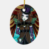 willow, circus, steampunk, fairy, victorian, gothic, faery, fae, faerie, fantasy, pixie, art, myka, jelina, mika, circus arts, Ornament with custom graphic design