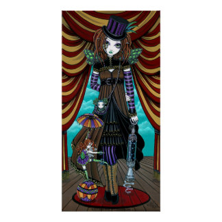 """Willow"" Victorian Steampunk Circus Faery poster"