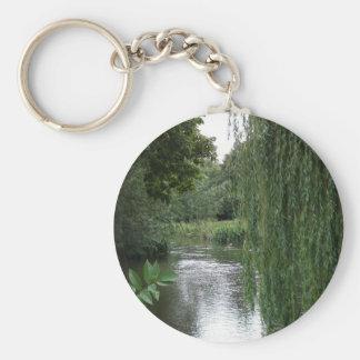 willow view basic round button keychain