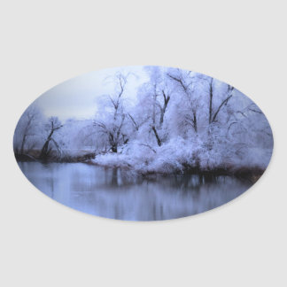 Willow Winter Wonderland Oval Sticker