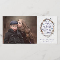 Willow Wreath Christmas Photo Card