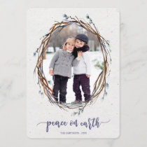 Willow Wreath Peace on Earth Photo Card