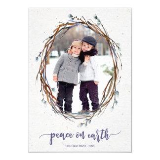 Willow Wreath Peace on Earth Photo Card