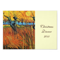 Willows at Sunset by Vincent van Gogh. Personalized Invitation