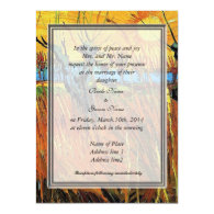 Willows at Sunset by Vincent van Gogh. Custom Invitation