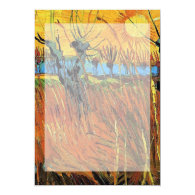 Willows at Sunset by Vincent van Gogh. Announcements