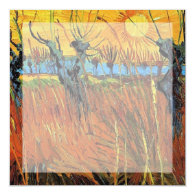 Willows at Sunset by Vincent van Gogh. Announcement