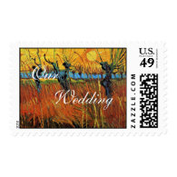 Willows at Sunset by Vincent van Gogh. Stamps