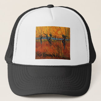 Willows at Sunset by Vincent van Gogh Trucker Hat