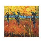 Willows at Sunset,Vincent van Gogh Canvas Print