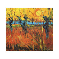 Willows at Sunset,Vincent van Gogh Canvas Print