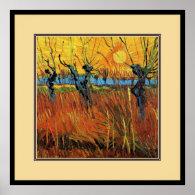 Willows at Sunset,Vincent van Gogh Print