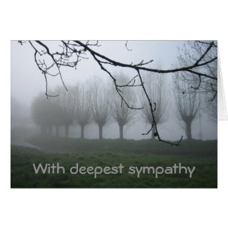 Willows in the fog card
