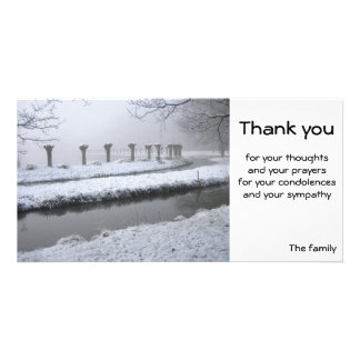 Willows in winter card