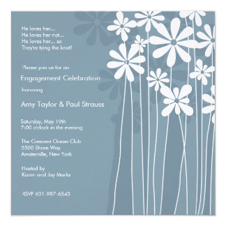 Willowy Flowers Invitation