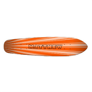 Willpower orange Color Stripe Funky Pattern Skateboard Deck