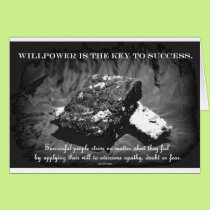willpower over dieting card
