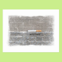 Willpower Quit Smoking Last Cigarette Postcard