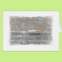 Willpower to Quit Smoking Congratulations Card