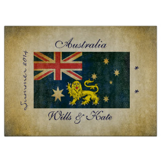 Wills and Kate Australia Glass Cutting Board