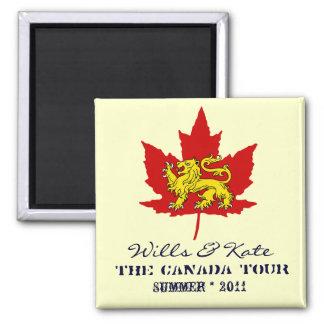 Wills and Kate CANADA Commemorative Magnet