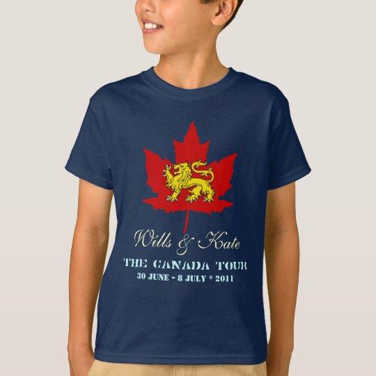 Wills and Kate CANADA Kids T-Shirt (Dark)