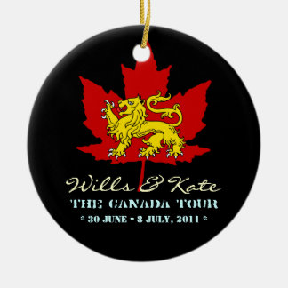 Wills and Kate CANADA Ornament (Black)
