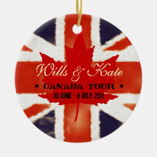 Wills and Kate CANADA Tour 2011 Ornament
