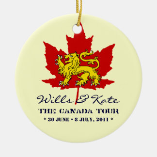 Wills and Kate CANADA Tour Keepsake Ornament