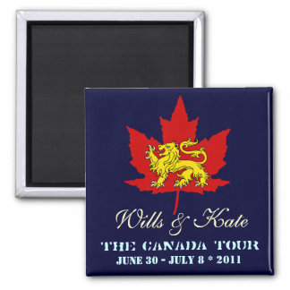 Wills and Kate CANADA Tour Magnet