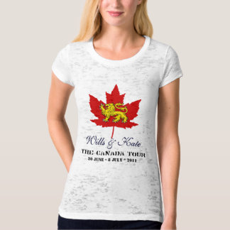 Wills and Kate CANADA Tour T-Shirt