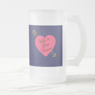 Wills and Kate Forever! Products 16 Oz Frosted Glass Beer Mug