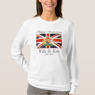 Wills and Kate Happy Anniversary Long Sleeve T T-Shirt