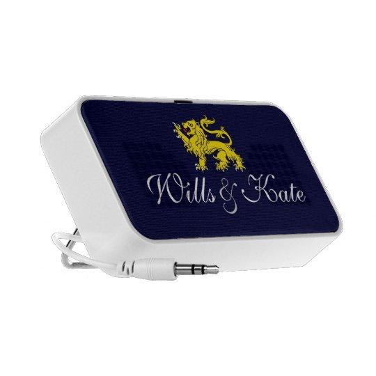 Wills and Kate Heraldry Lion Audio Speaker (Blue)
