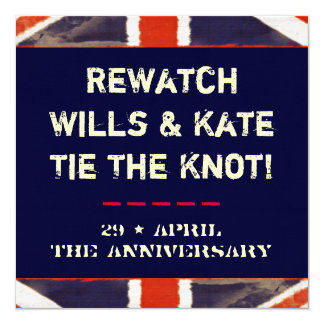 Wills and Kate Rewatch Party (Anniversary) Card