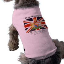 Wills and Kate Royal Wedding Dog T-Shirt (Pink)