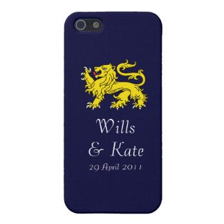 Wills and Kate Royal Wedding iPhone Case (Navy)