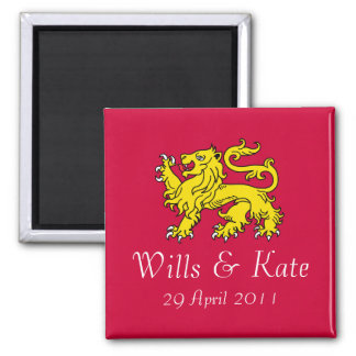 Wills and Kate Royal Wedding Magnet (Red)
