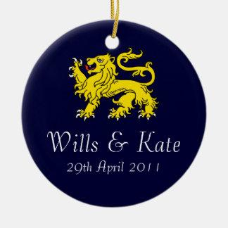 Wills And Kate Royal Wedding Ornament (Dark Blue)