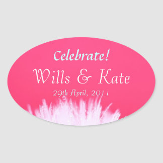 Wills and Kate Royal Wedding Oval Stickers
