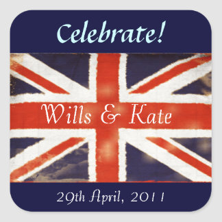 Wills and Kate Royal Wedding Stickers (Square)