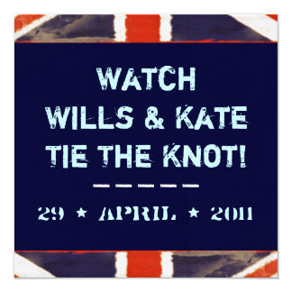 Wills And Kate Tie The Knot Mod Invitation