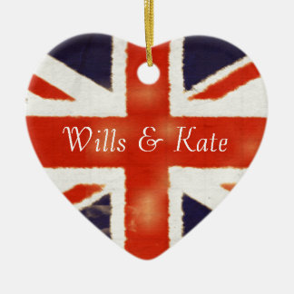 Wills and Kate Vintage Union Jack Ornament