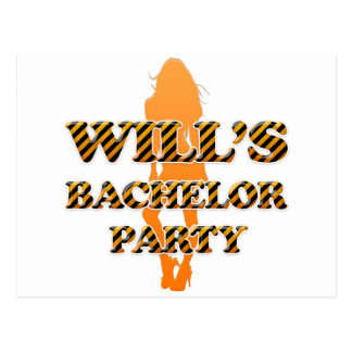 Will's Bachelor Party Postcard