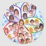 Wills Class Art Classic Round Sticker