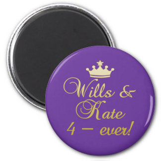 Wills & Kate 4-Ever T-shirts, Mugs, Gifts 2 Inch Round Magnet