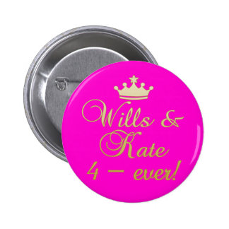 Wills & Kate 4-Ever T-shirts, Mugs, Gifts Button