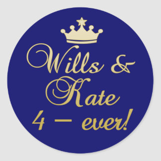 Wills & Kate 4-Ever T-shirts, Mugs, Gifts Classic Round Sticker