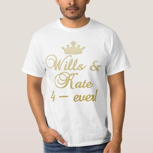 Wills & Kate 4-Ever T-shirts, Mugs, Gifts Shirt